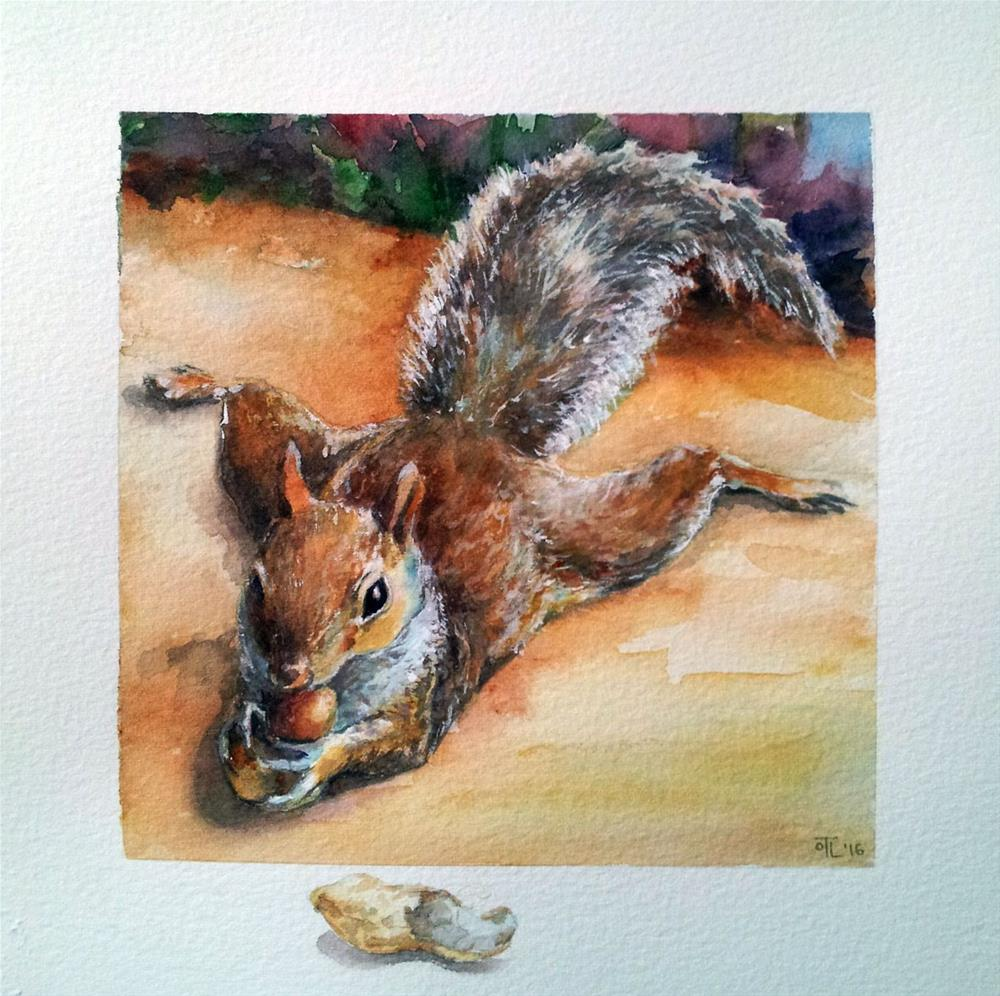 """DCS #27 Squirrel - the rest of the story"" original fine art by Olga Touboltseva-Lefort"