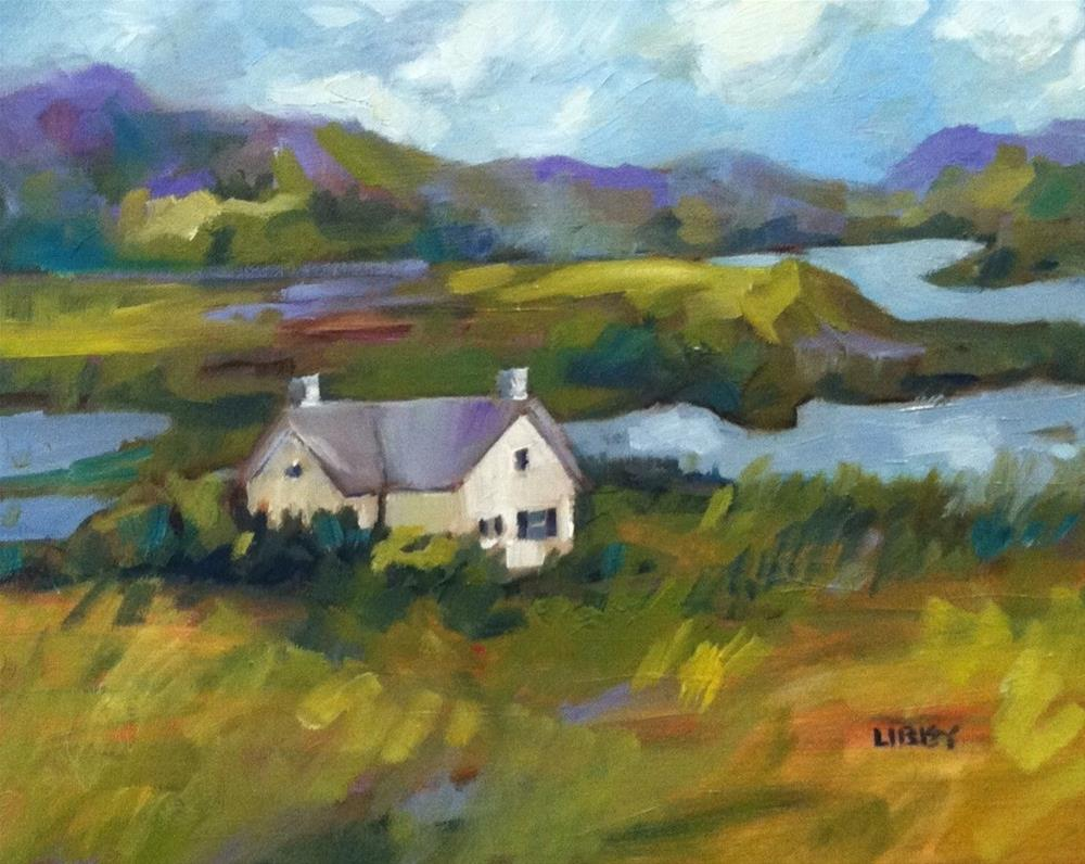 """""""House by the Water"""" original fine art by Libby Anderson"""
