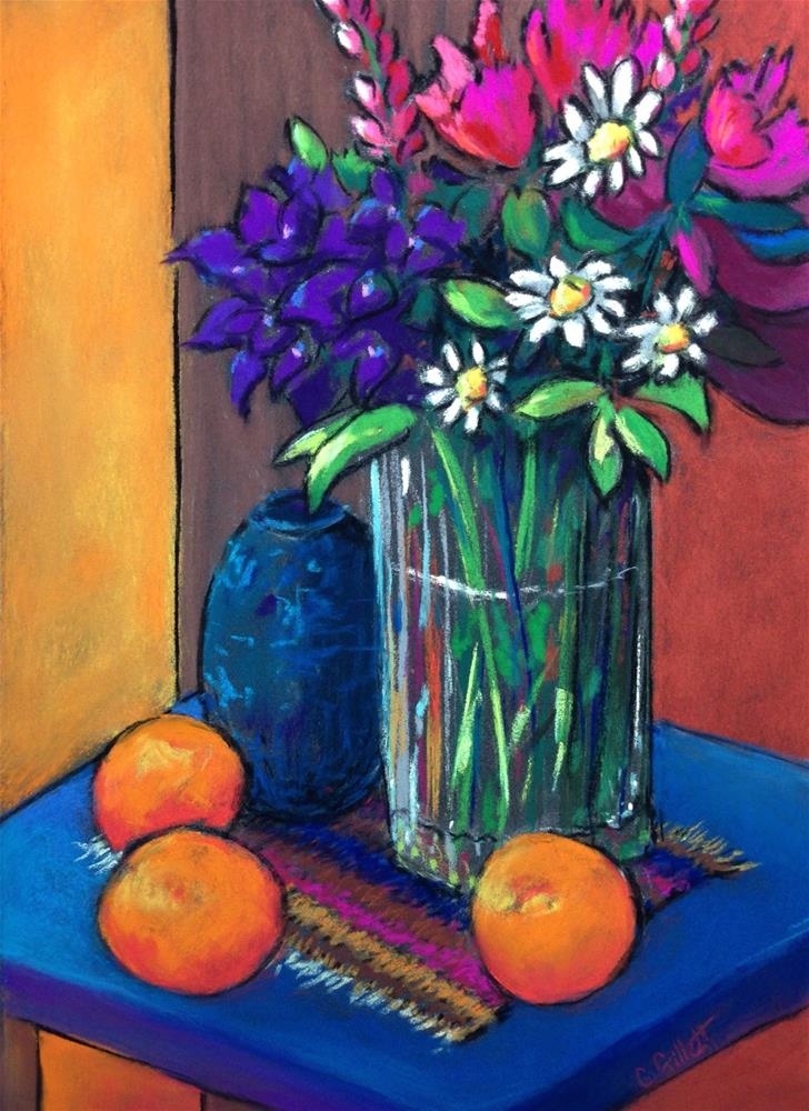 """Backyard Bouquet"" original fine art by Cindy Gillett"