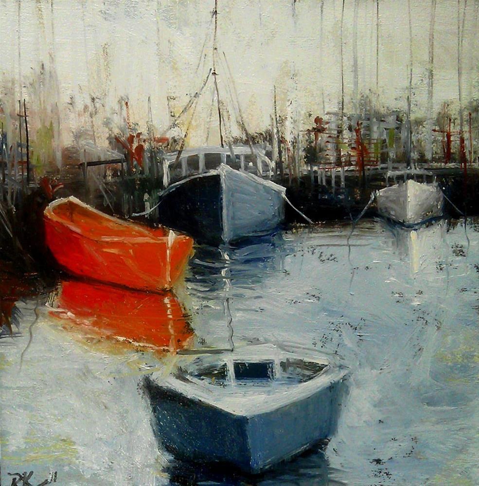 """Crowded Port"" original fine art by Bob Kimball"