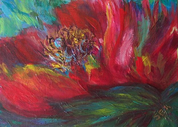 """2046 - Free Spirit - Essence Painting"" original fine art by Sea Dean"