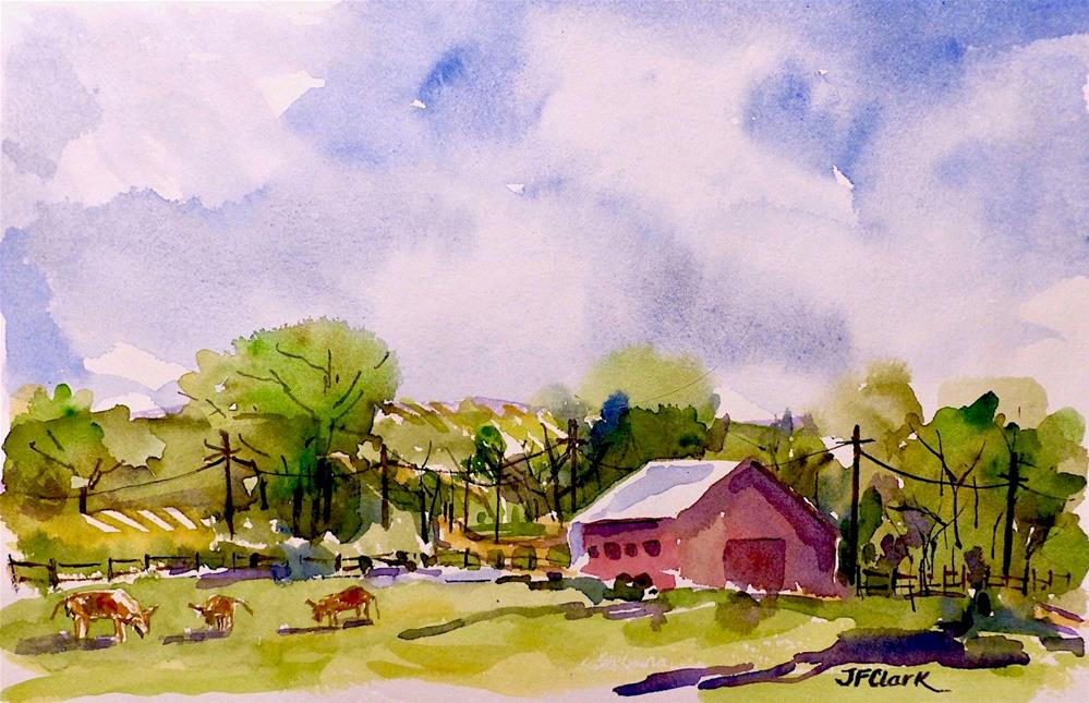 """Farm Afternoon"" original fine art by Judith Freeman Clark"