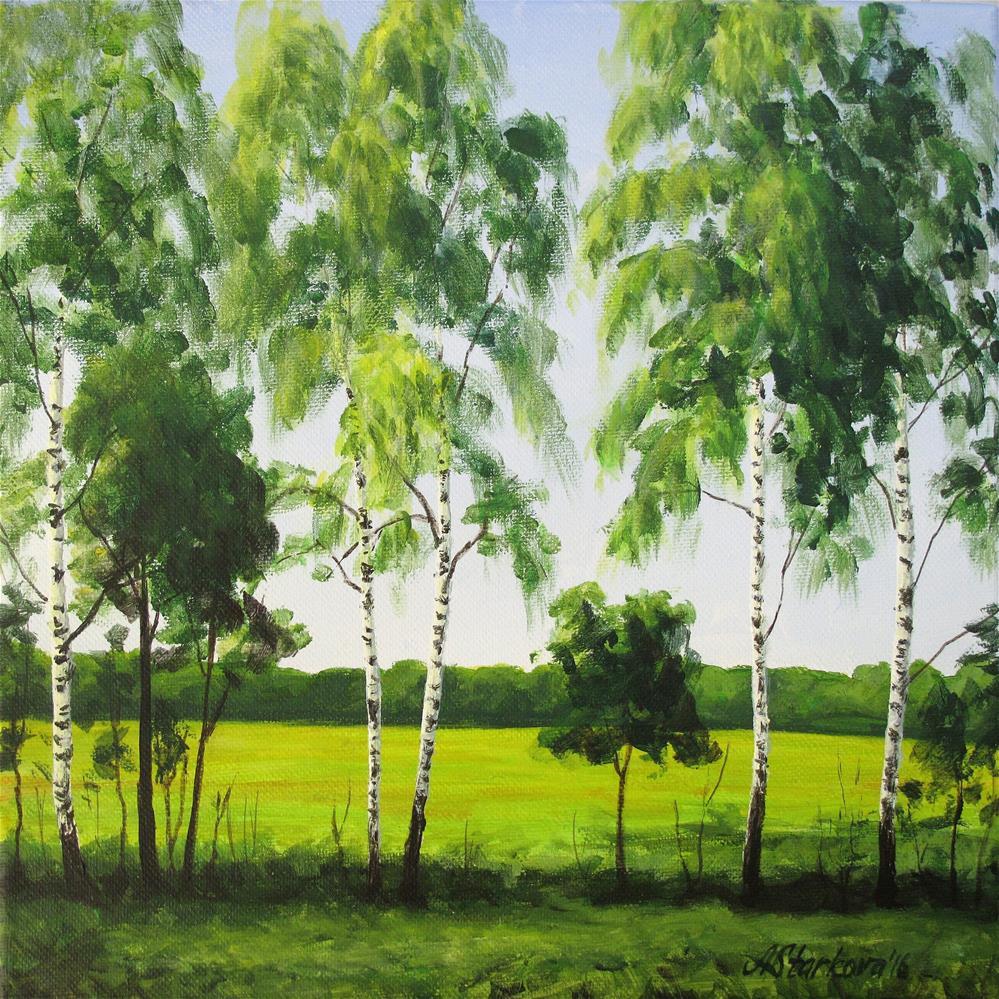 """""""Summer slim"""" original fine art by Anna Starkova"""