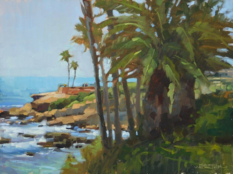 """Laguna Palms"" original fine art by Karen Werner"