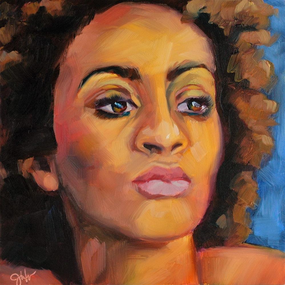 """Undaunted"" original fine art by Janette Harter"