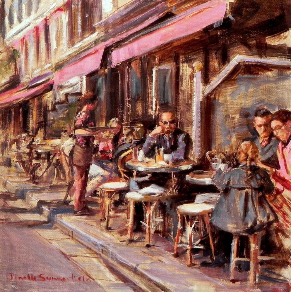 """""""Breakfast in Honfleur"""" original fine art by Jonelle Summerfield"""