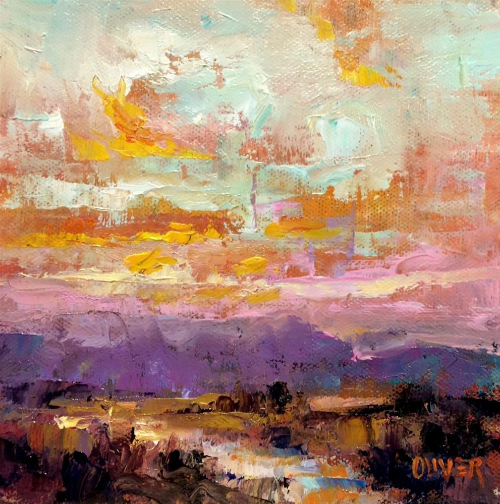 """Sunrise in New exico"" original fine art by Julie Ford Oliver"