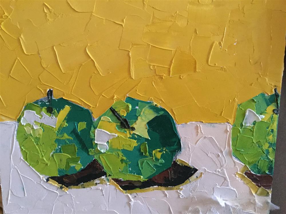 """Alejandro's apples two"" original fine art by pamela kish"