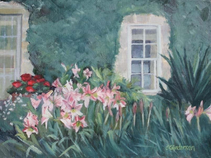 """Amaryllis glory"" original fine art by Susan Andersen"