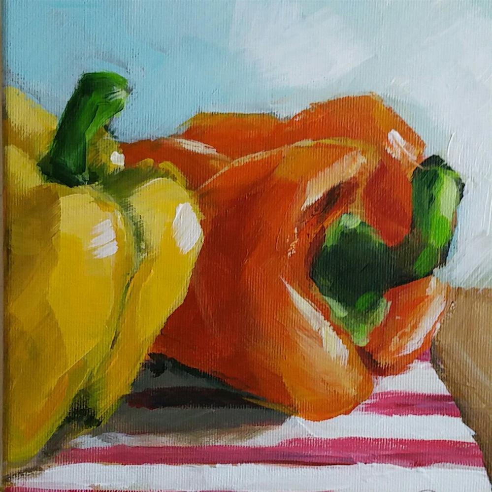 """Paprika"" original fine art by Sabine Hüning"