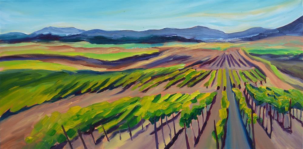 """Spring Vineyard"" original fine art by Loralee Chapleau"