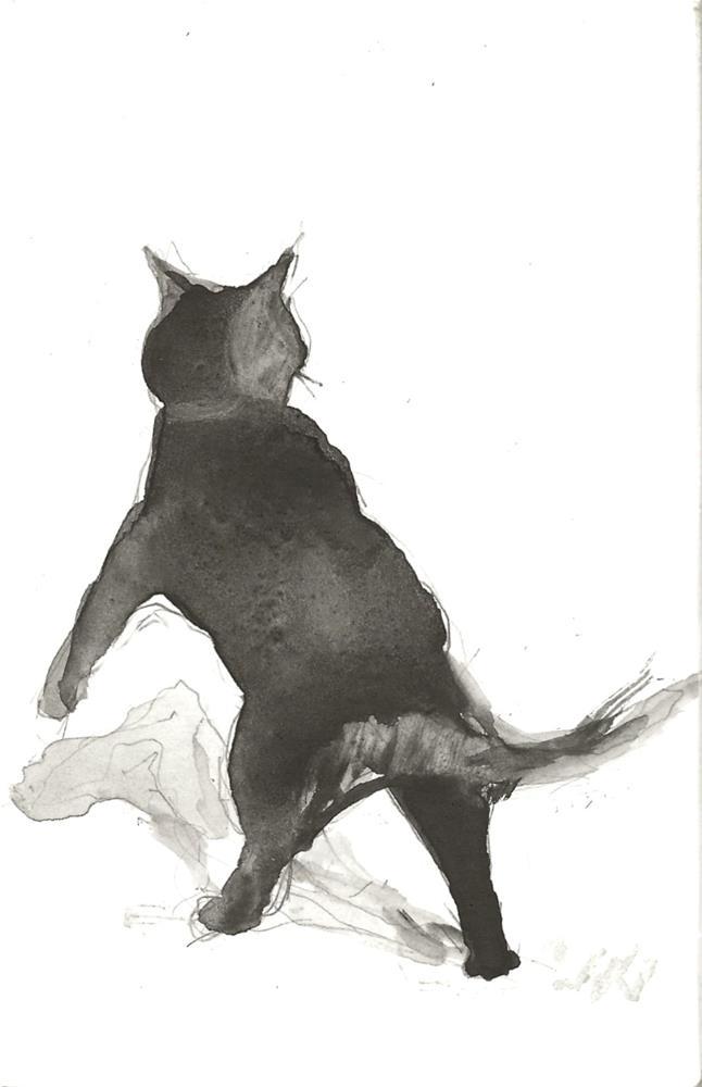 """Daily Cat 209"" original fine art by Jean Krueger"