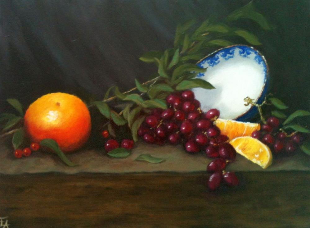 """Bowl and Orange Slices, Lesson 1"" original fine art by Elizabeth Elgin"