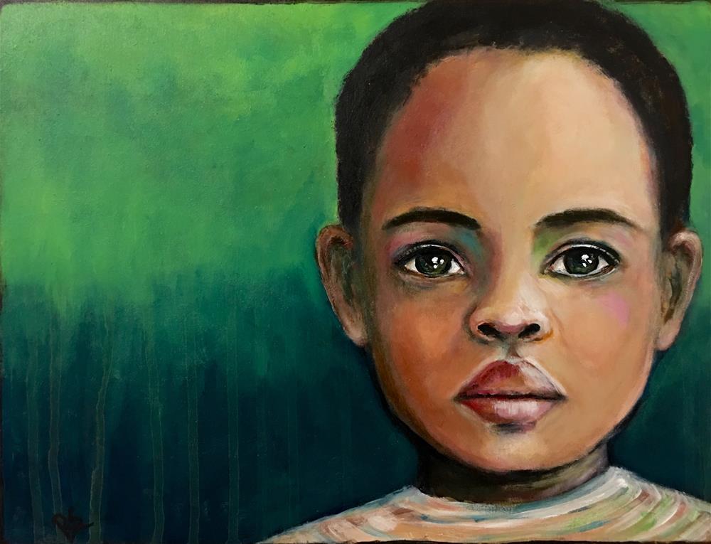 """""""A Child of Africa"""" original fine art by Roberta Schmidt"""