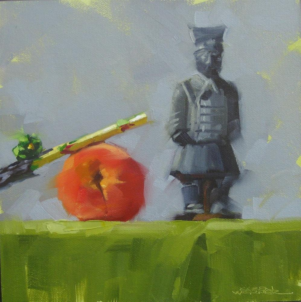 """Apricot Guard"" original fine art by Karen Werner"