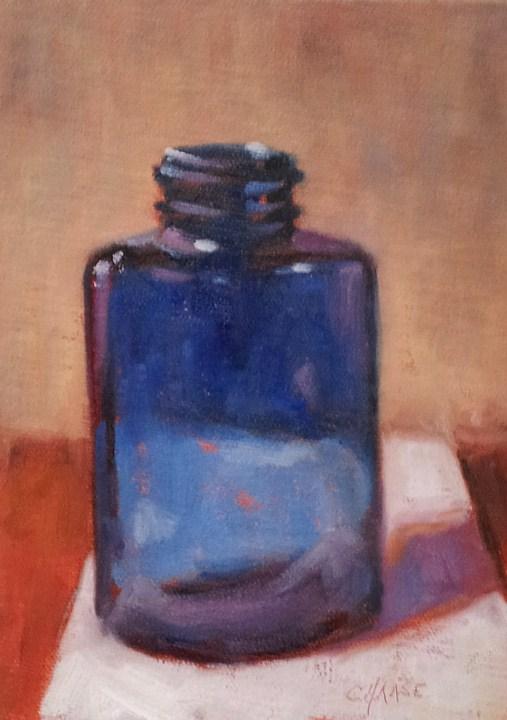 """Am I Blue?"" original fine art by Cindy Haase"