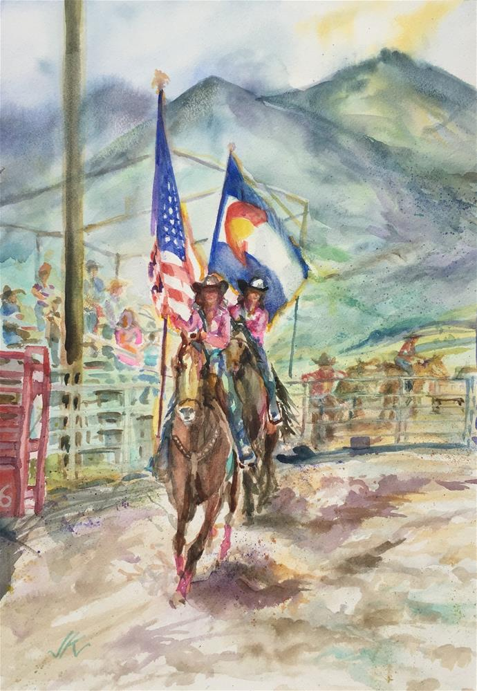 """Rodeo Royalty"" original fine art by Jean Krueger"