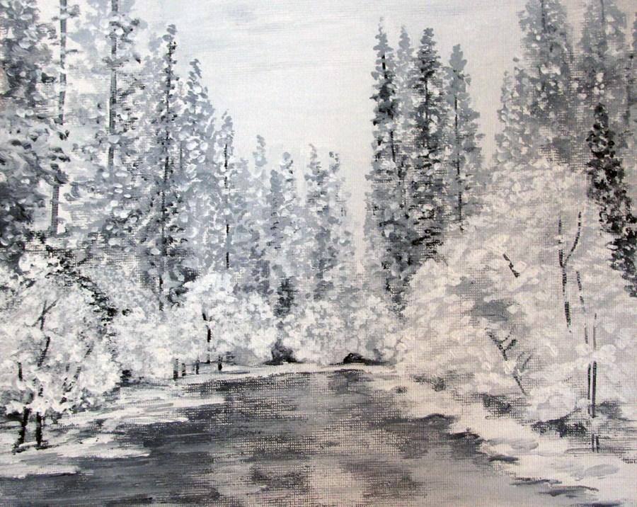 """Hazy Shade of Winter"" original fine art by Nan Johnson"
