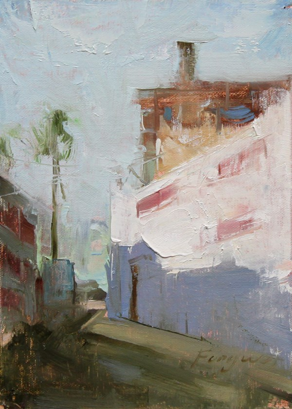 """Small Landscape 05-13-2013"" original fine art by Fongwei Liu"
