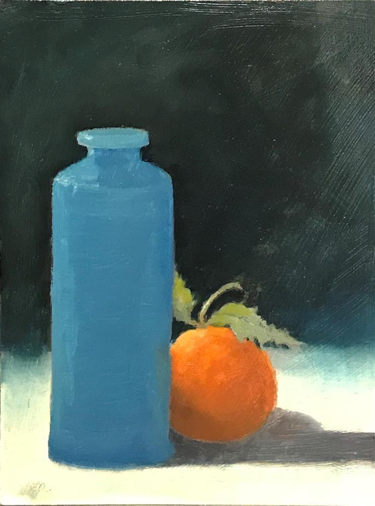 """""""Orange and blue"""" original fine art by Betty Argiros"""
