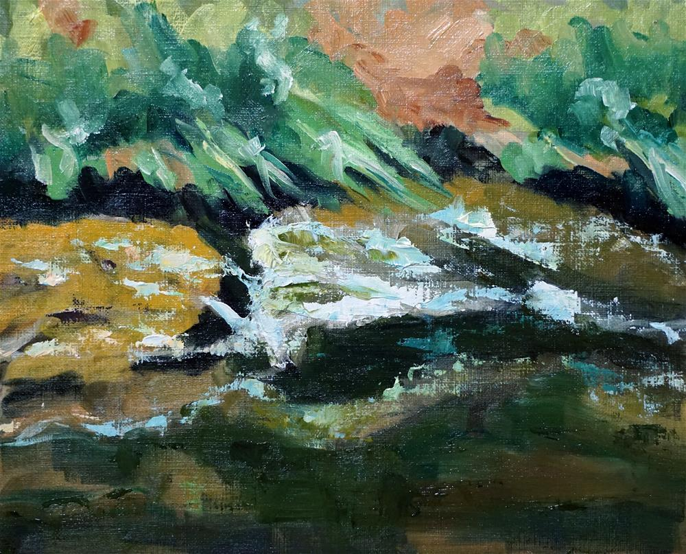"""Cherry Creek Whitewater"" original fine art by Catherine Van Berg"