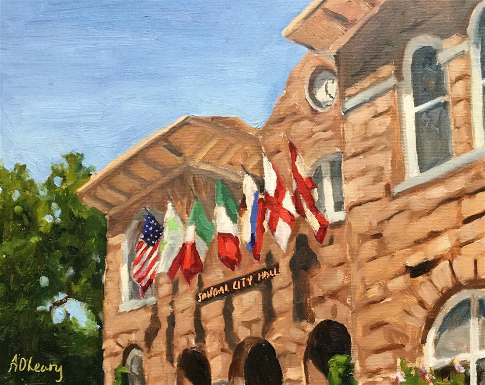 """Sonoma City Hall"" original fine art by Alice O'Leary"