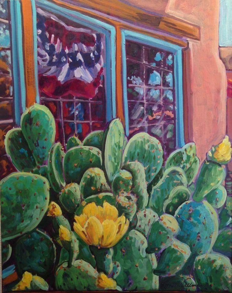 """Old Town Albuquerque July"" original fine art by Robyn Suzanne"