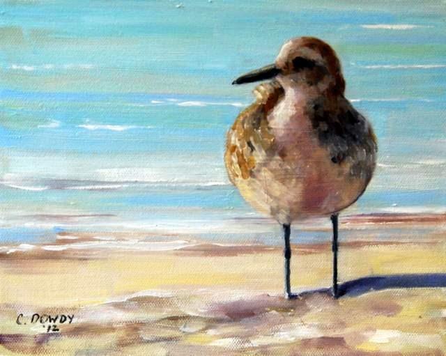 """""""Sandpiper Profile"""" original fine art by Christina Dowdy"""