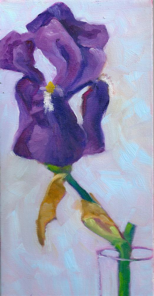 """Iris Study #4"" original fine art by Marlene Lee"