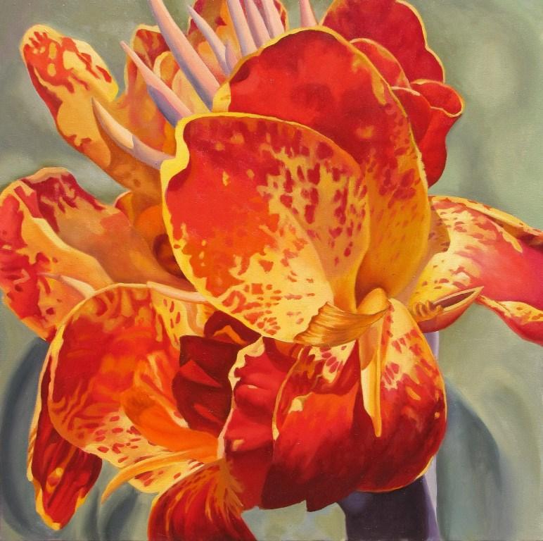 """Canna"" original fine art by Sally Baca"