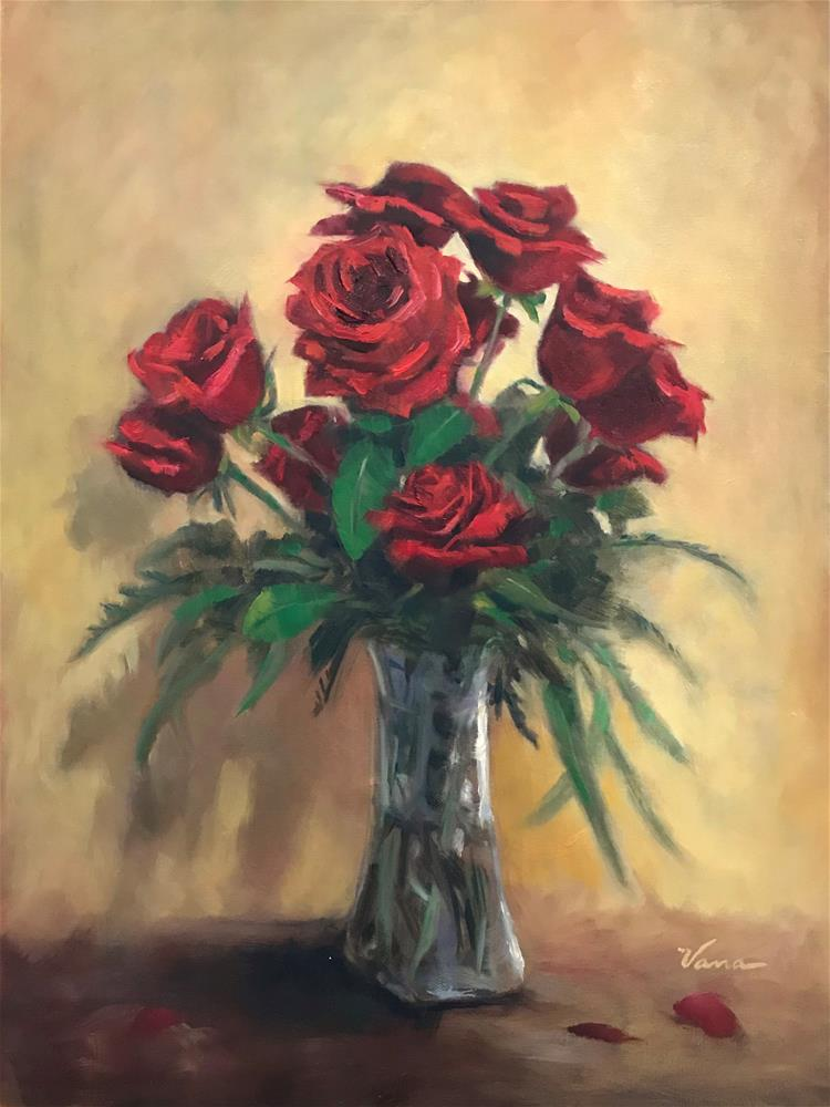 """Deb's Roses"" original fine art by Vana Meyers"