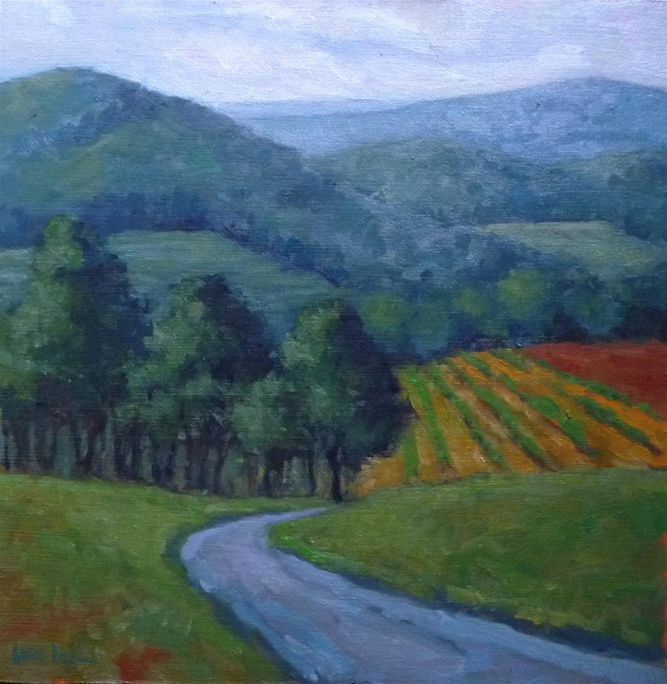 """View from Hauser Winery"" original fine art by Lisa Kyle"