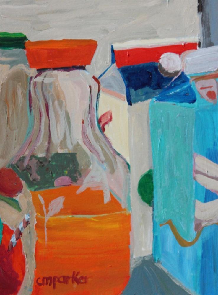 """""""DPW Refrigerator Challenge"""" original fine art by Christine Parker"""