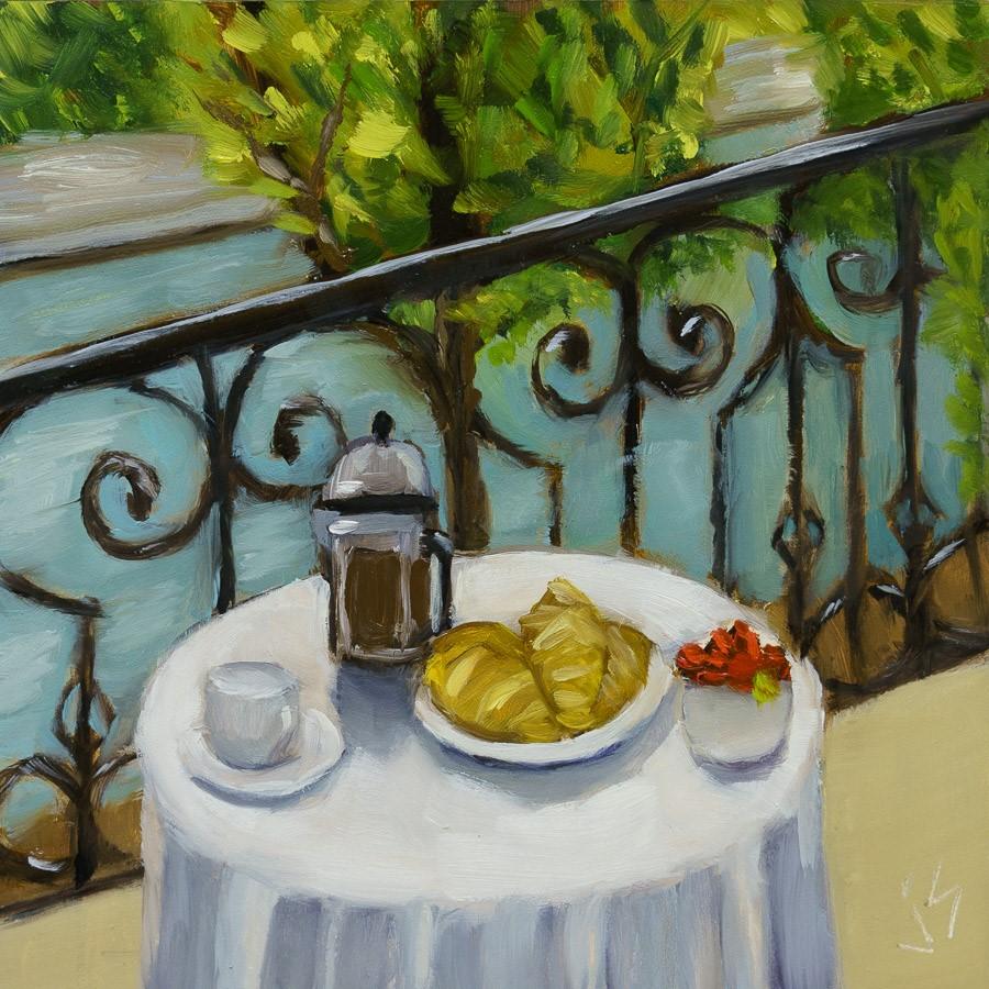 """""""Inside-Out River Seine"""" original fine art by Johnna Schelling"""