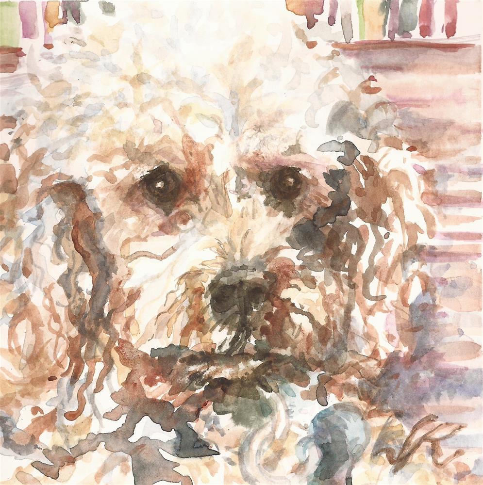 """Poodle"" original fine art by Jean Krueger"