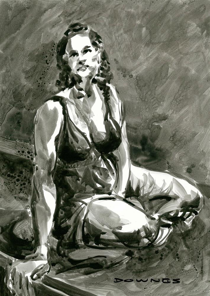 """314 LIFE DRAWING 29"" original fine art by Trevor Downes"