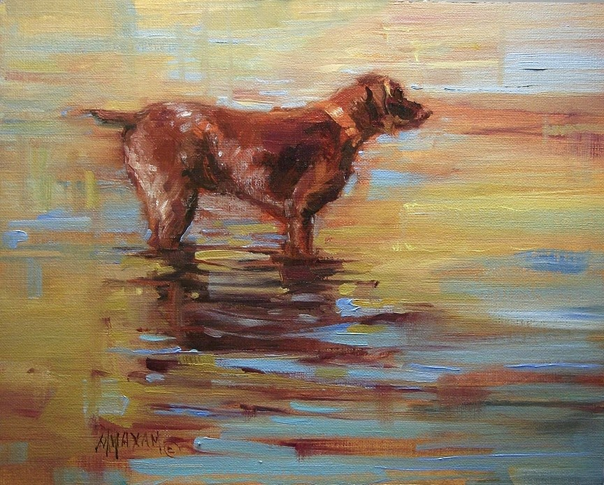 """Oscar"" original fine art by Mary Maxam"
