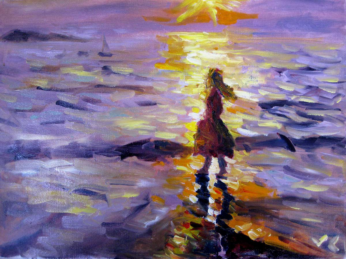 """Summer Memory"" original fine art by Julia Lu"