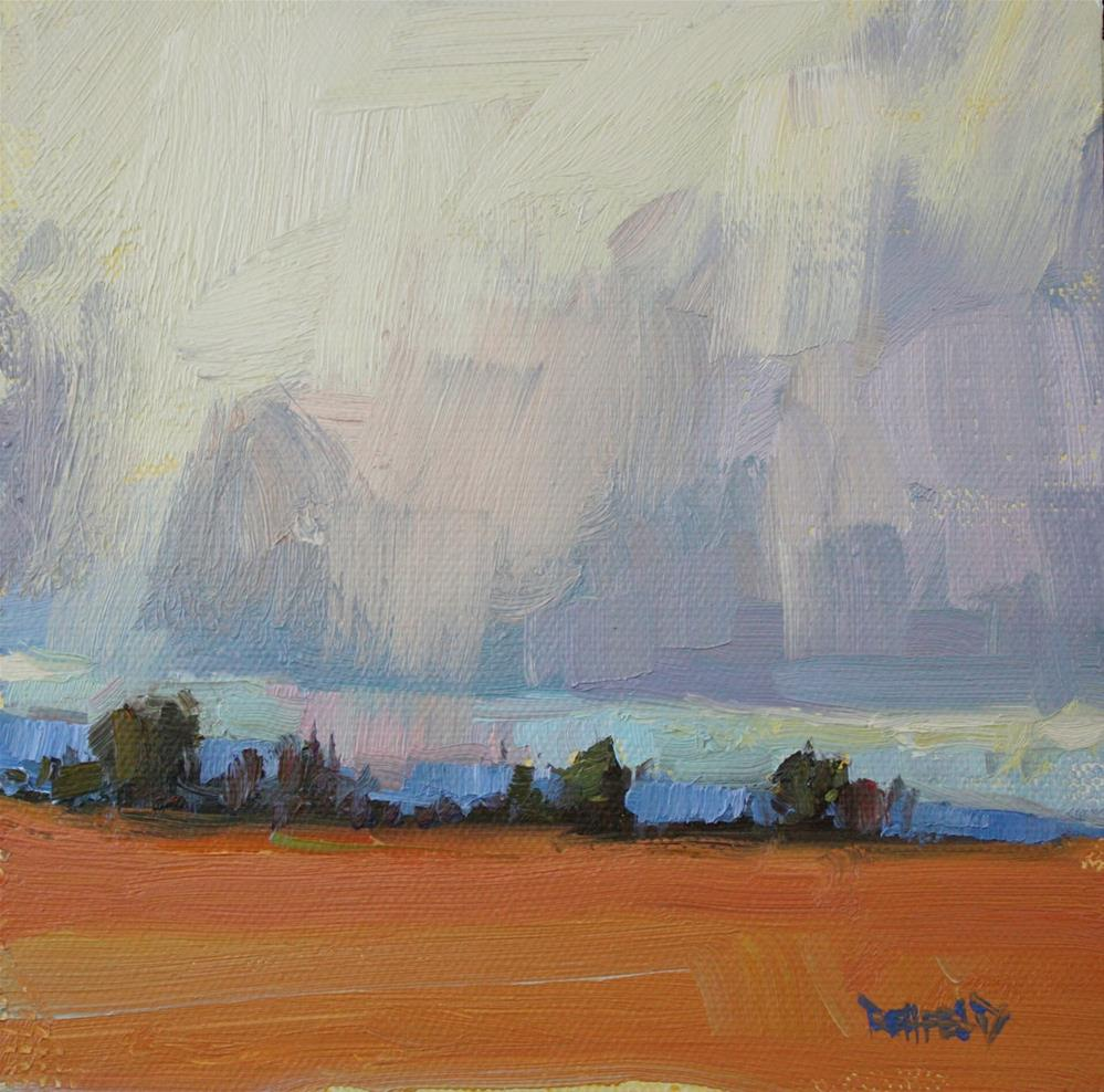"""Faraway Trees"" original fine art by Cathleen Rehfeld"
