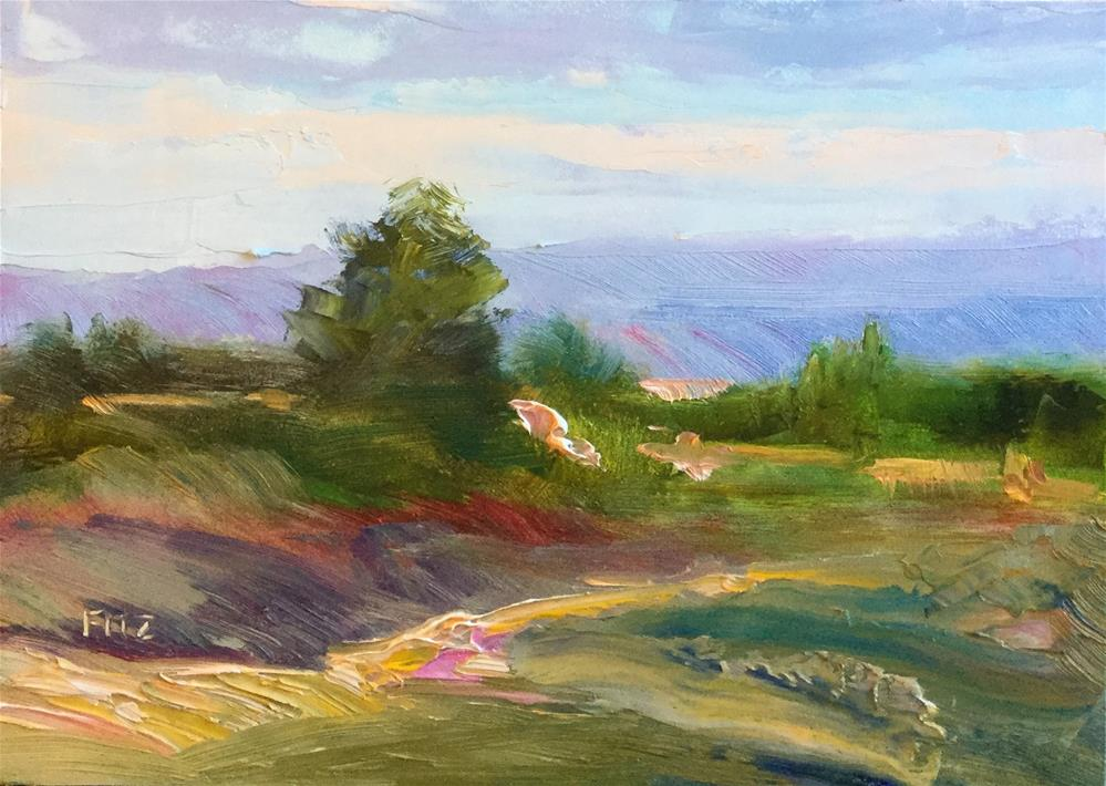 """Hilly Path"" original fine art by Charlotte Fitzgerald"