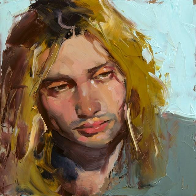 """Blond Boy"" original fine art by John Larriva"