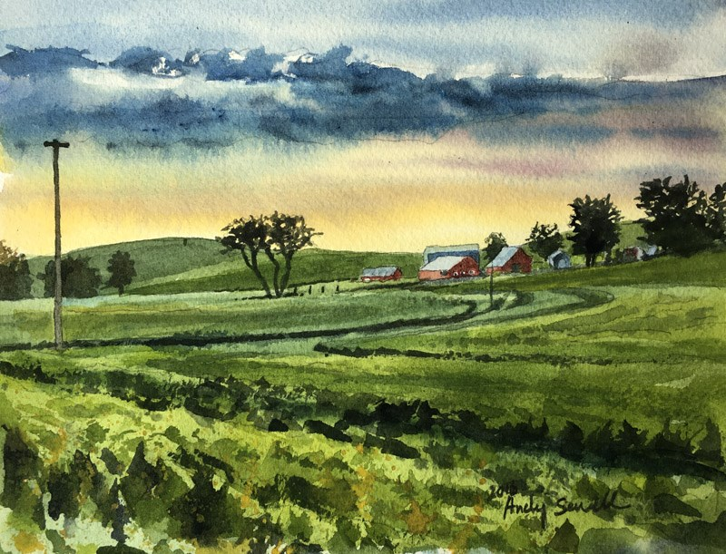 """""""Palouse After the Rain"""" original fine art by Andy Sewell"""