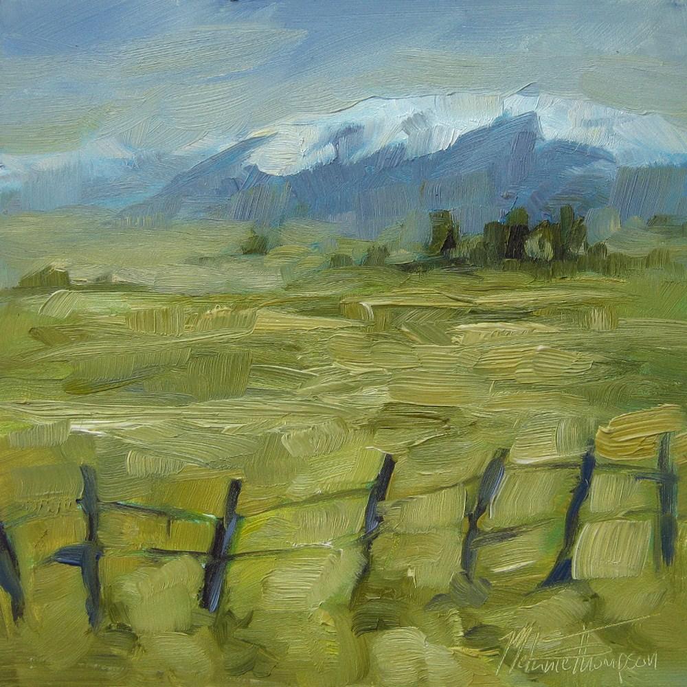 """""""Wallowa Fields"""" original fine art by Melanie Thompson"""