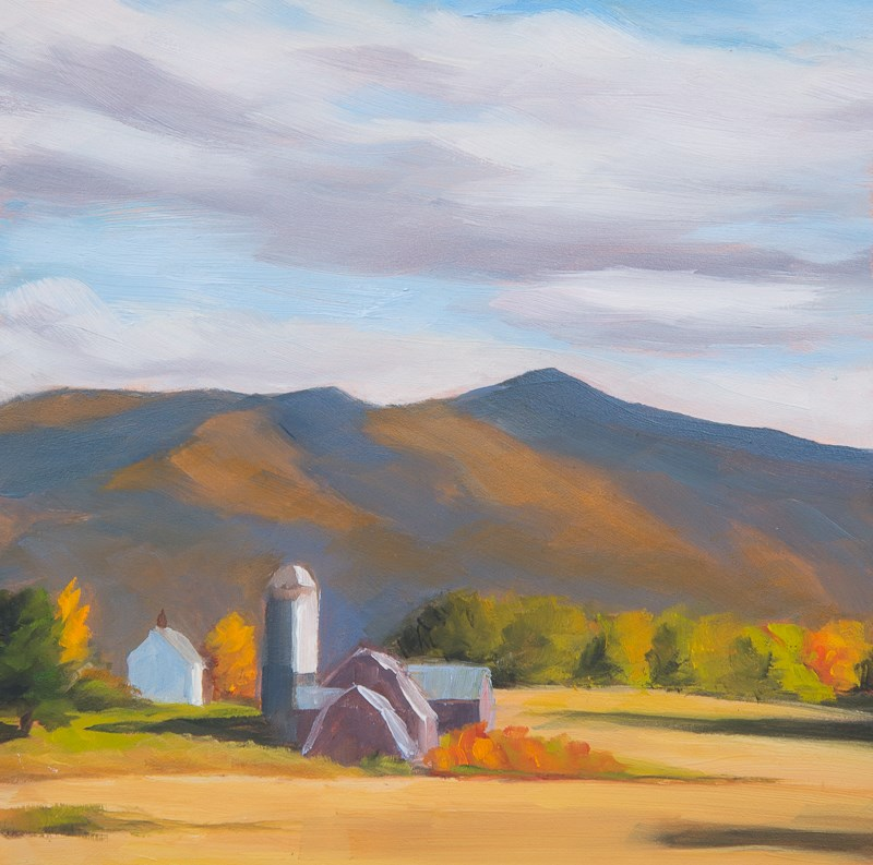 """#42 - Autumn Farm - Morristown, VT"" original fine art by Sara Gray"