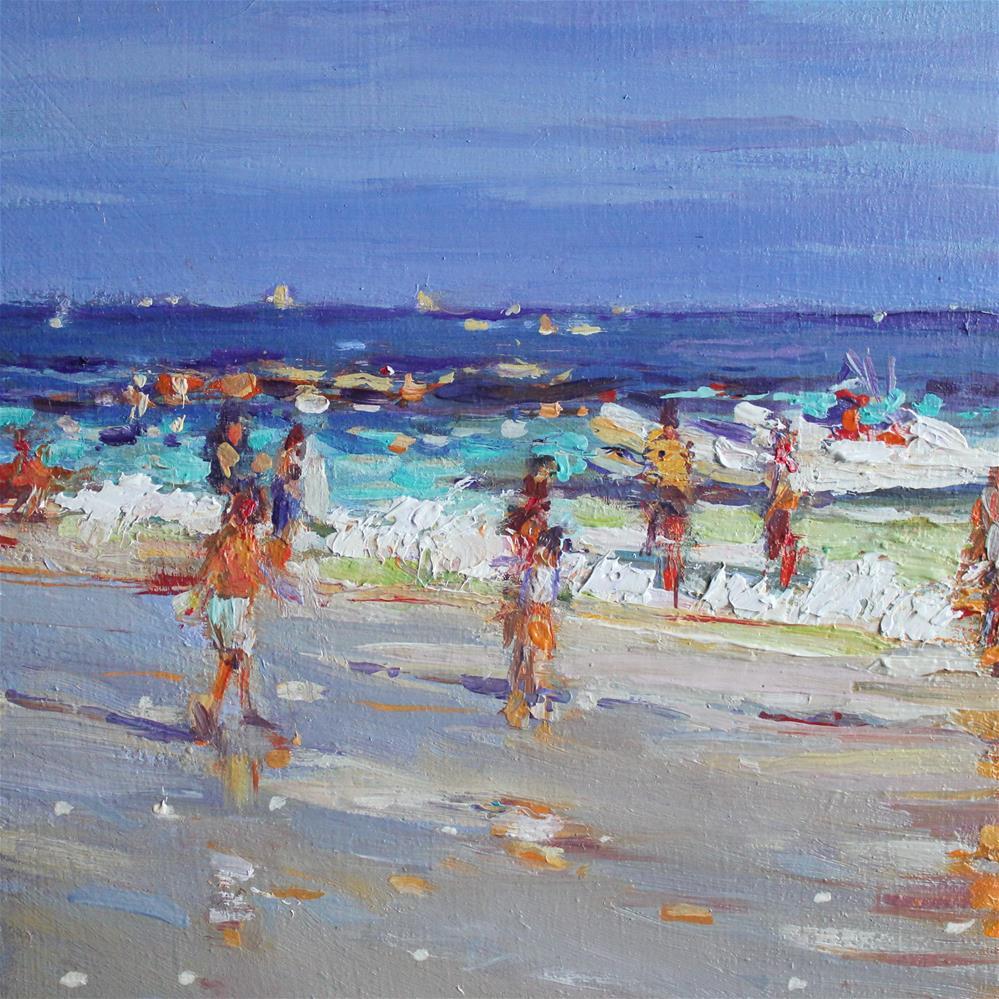 """""""Beach Stroll"""" original fine art by Ken Devine"""