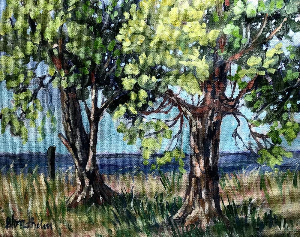 """Island Trees"" original fine art by Linda Blondheim"
