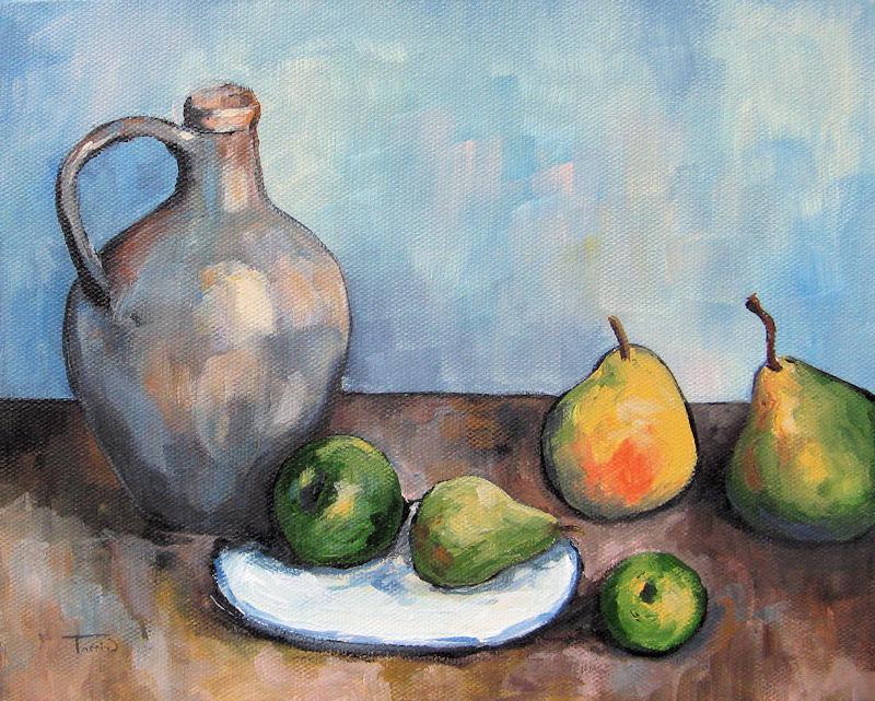 """Cezanne's Jug"" original fine art by Torrie Smiley"