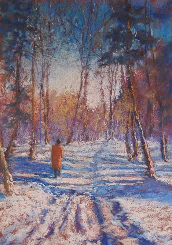 """Winter Walk"" original fine art by Ruth Mann"