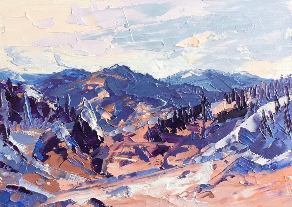 """Snow Slides Rocky Mountains"" original fine art by Martin Beauchamp"