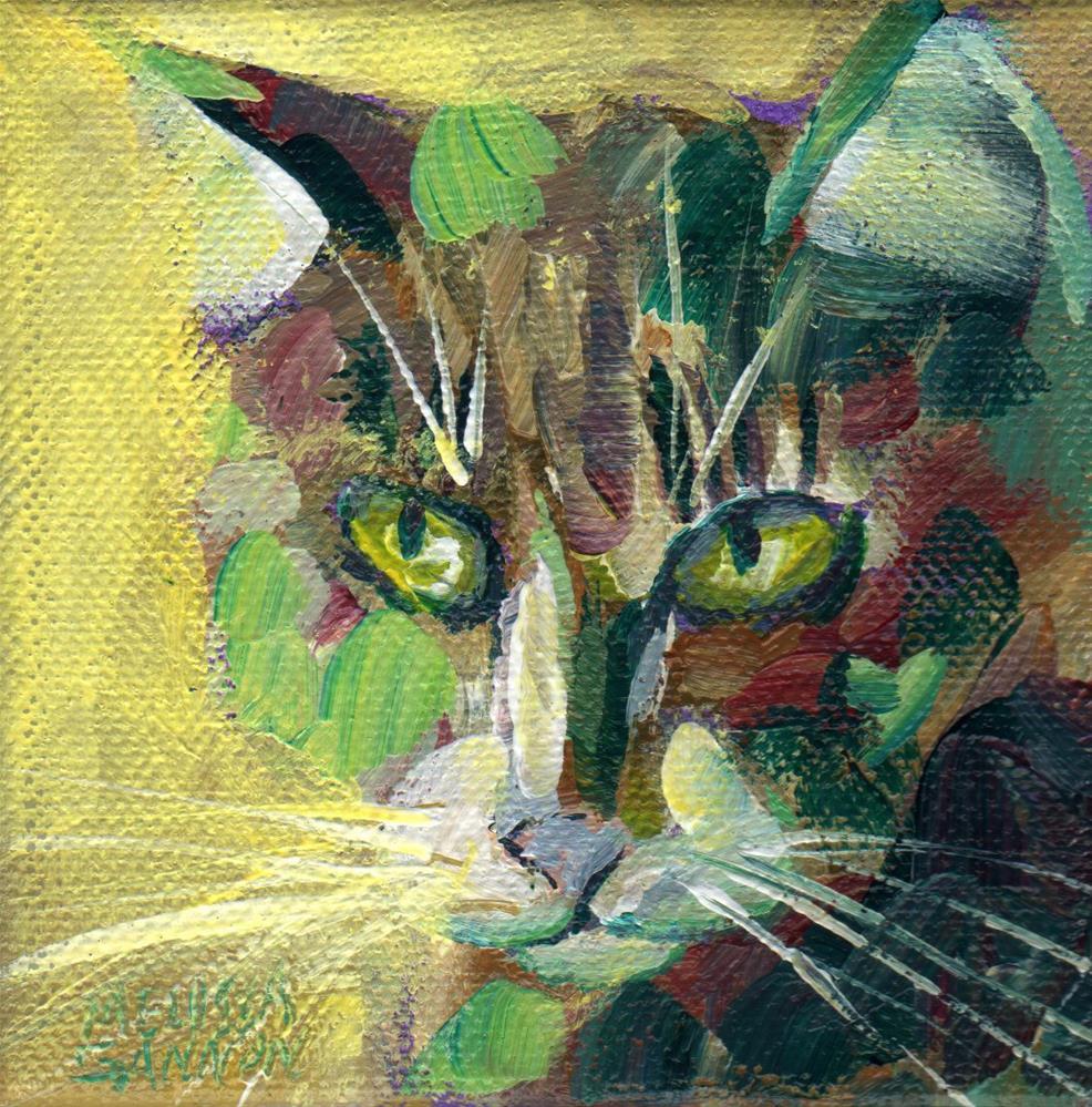 """""""Patchwork Greens"""" original fine art by Melissa Gannon"""